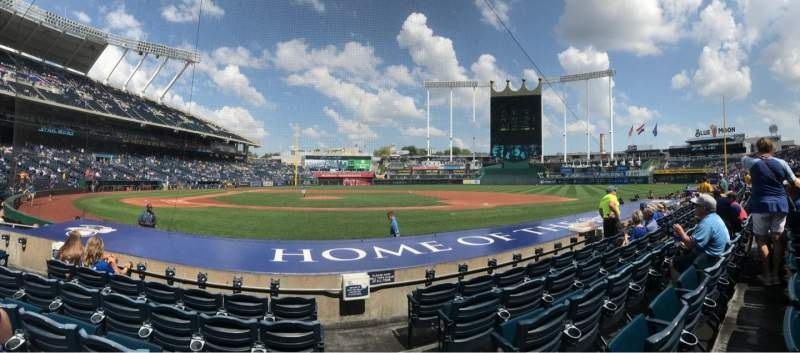 Seating view for Kauffman Stadium Section 133 Row 4