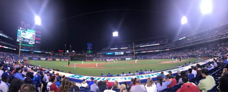 Seating view for Citizens Bank Park Section 130 Row 7 Seat 13