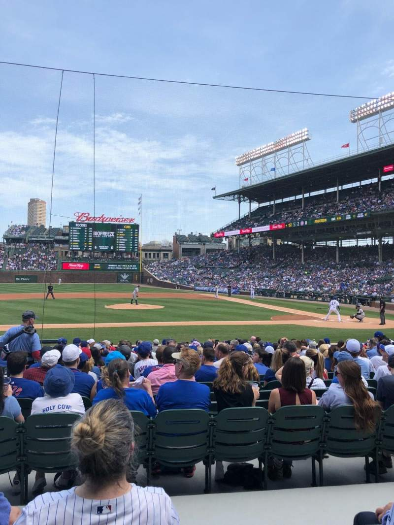 Seating view for Wrigley Field Section 115 Row 4 Seat 9
