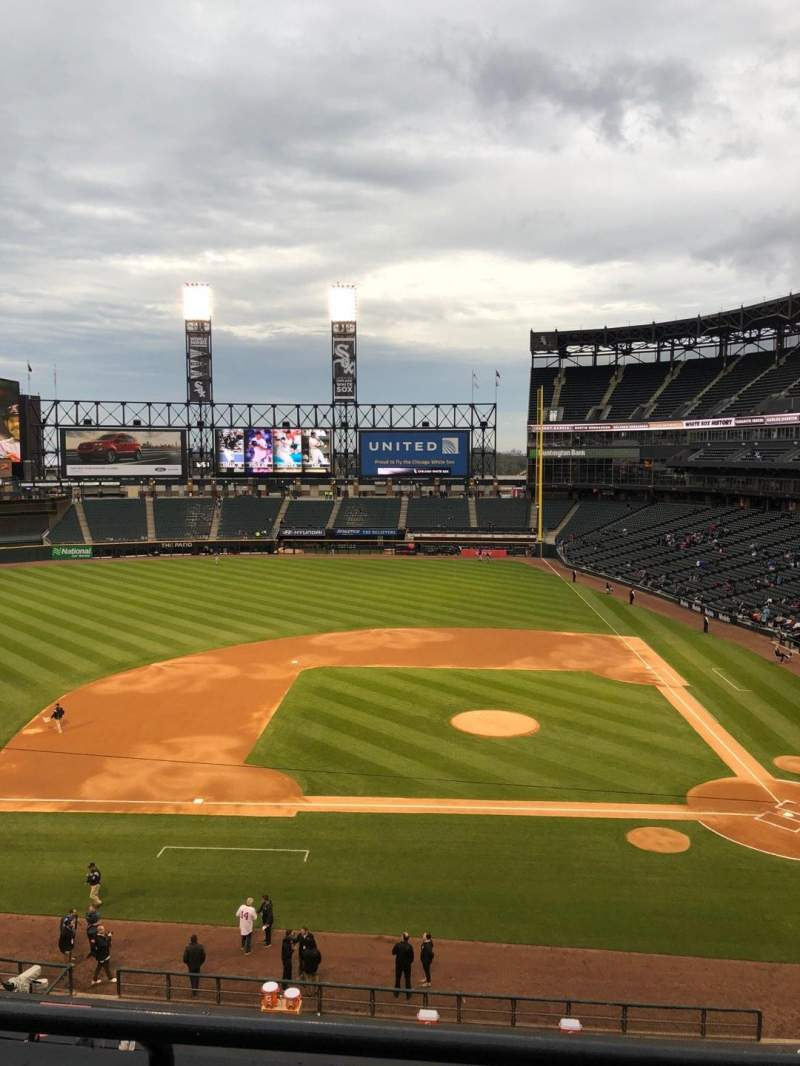 Seating view for Guaranteed Rate Field Section 338 Row 2 Seat 5