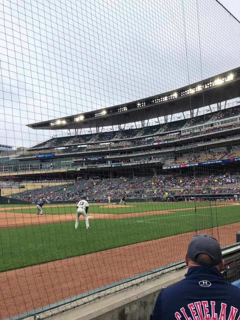 Seating view for Target Field Section 15 Row 2 Seat 6
