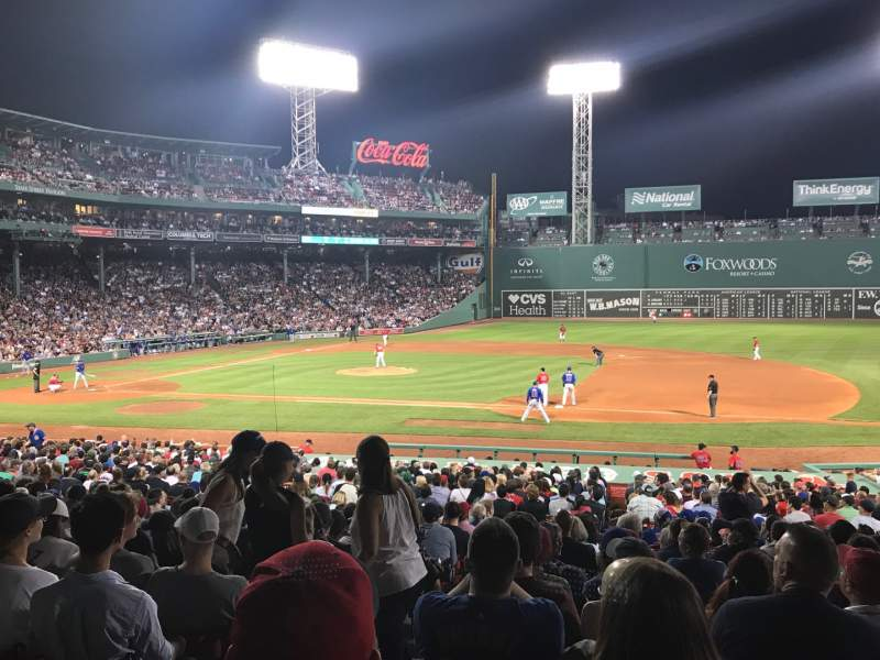 Seating view for Fenway Park Section Loge Box 111 Row DD Seat 5