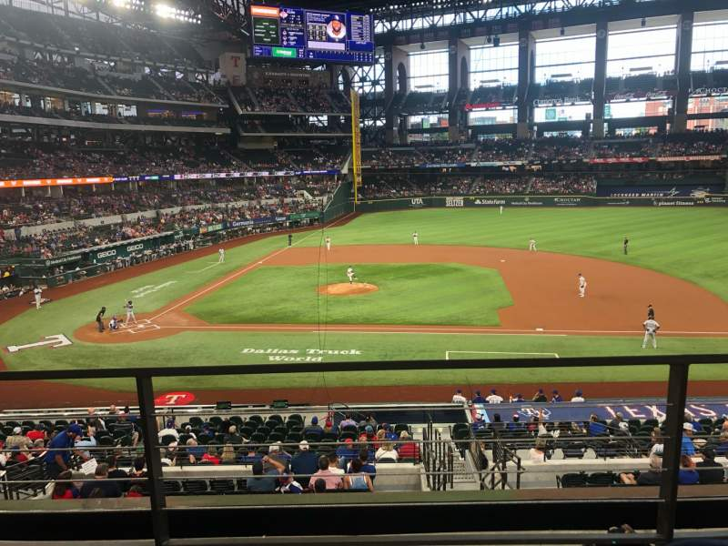 Seating view for Globe Life Field Section 119 Row 2 Seat 13