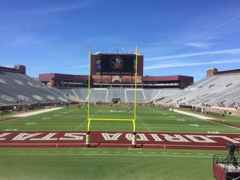 Seating view for Bobby Bowden Field at Doak Campbell Stadium Section 119 Row 2 Seat 8