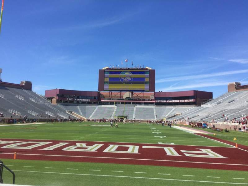 Seating view for Bobby Bowden Field at Doak Campbell Stadium Section 119 Row 2 Seat 10