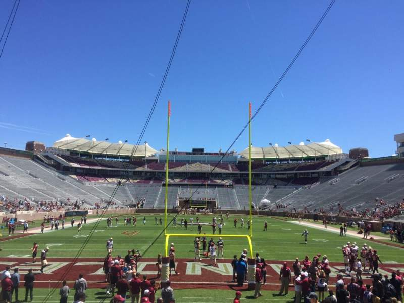 Seating view for Bobby Bowden Field at Doak Campbell Stadium Section 1 Row 15 Seat 1