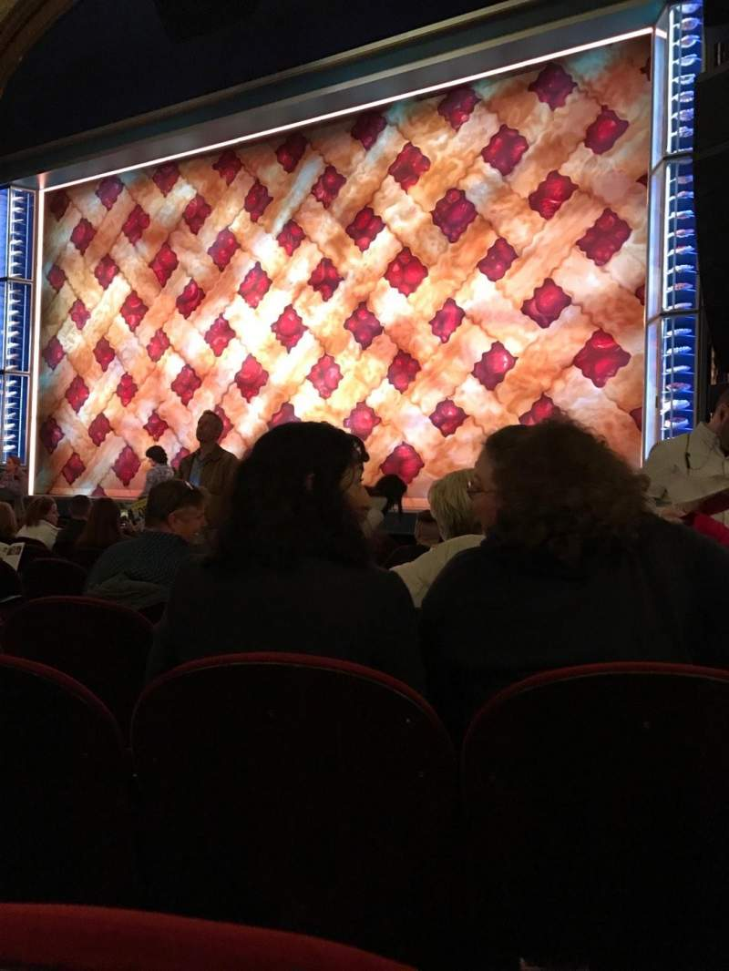 Seating view for Brooks Atkinson Theatre Section Orchestra R Row J Seat 12