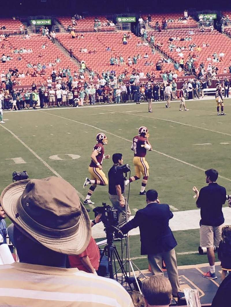 FedEx Field, section: 104, row: 6, seat: 14,15,16,1