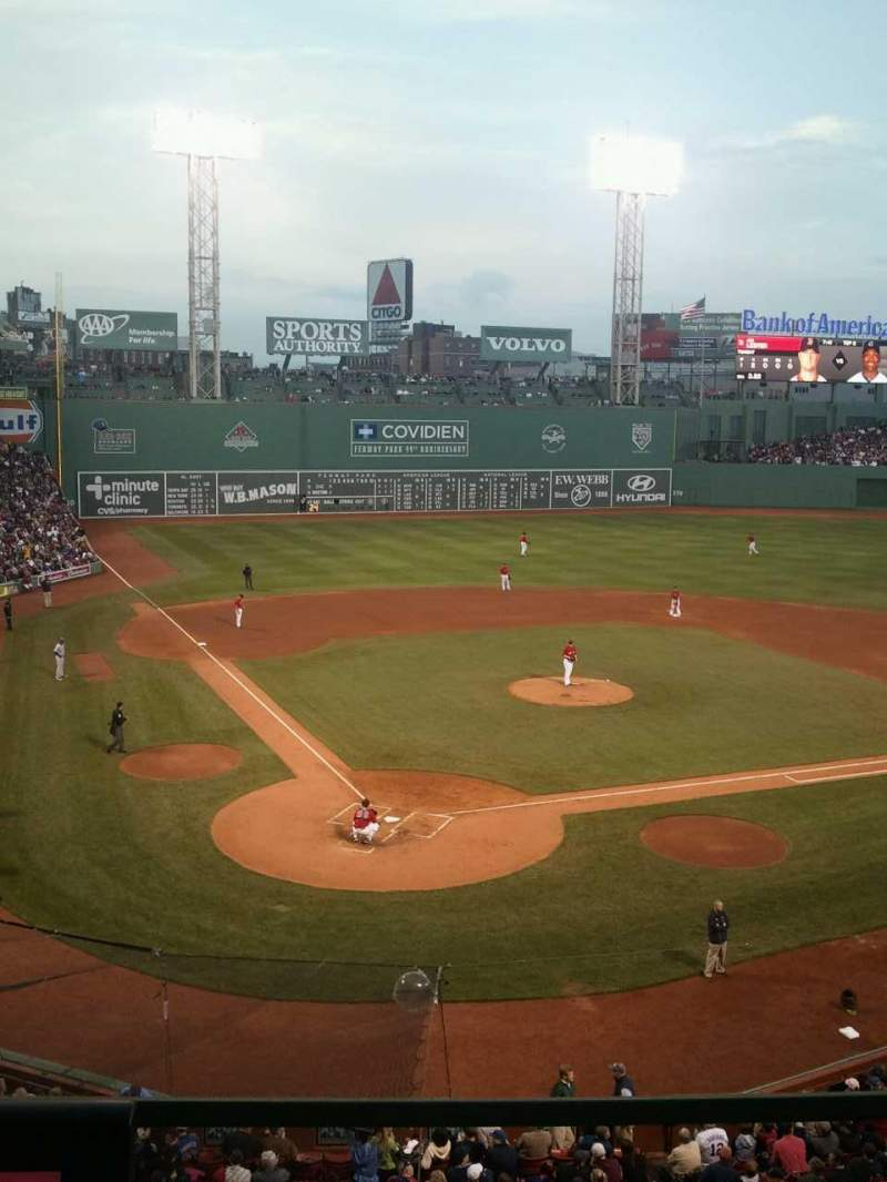 Seating view for Fenway Park Section emc  Row 1