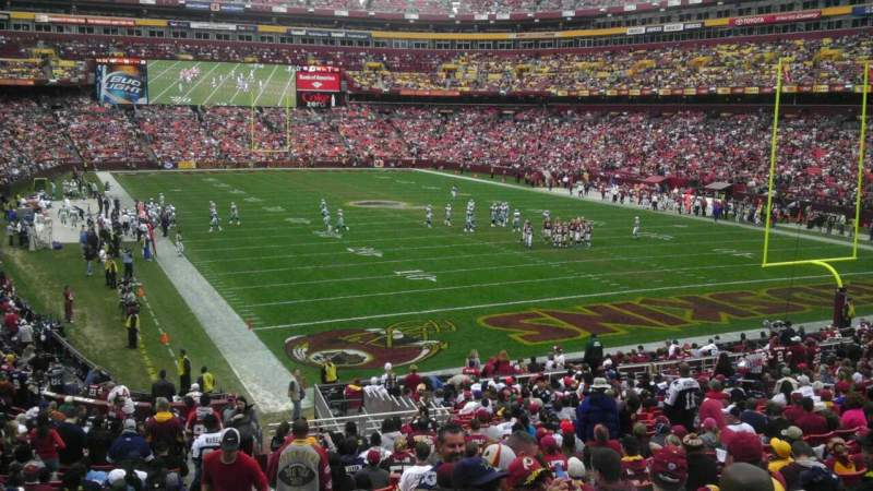 Seating view for FedEx Field Section 214 Row 2 Seat 14