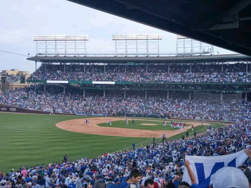 Seating view for Wrigley Field Section 204 Row 20 Seat 1