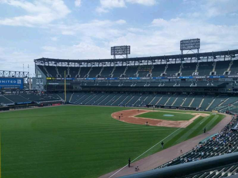 Seating view for Guaranteed Rate Field Section 354 Row 1 Seat 11