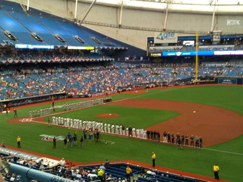 Seating view for Tropicana Field Section 216 Row B Seat 19