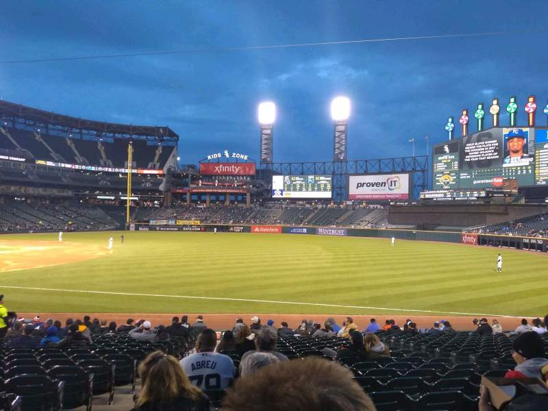 Seating view for Guaranteed Rate Field Section 116 Row 20 Seat 7