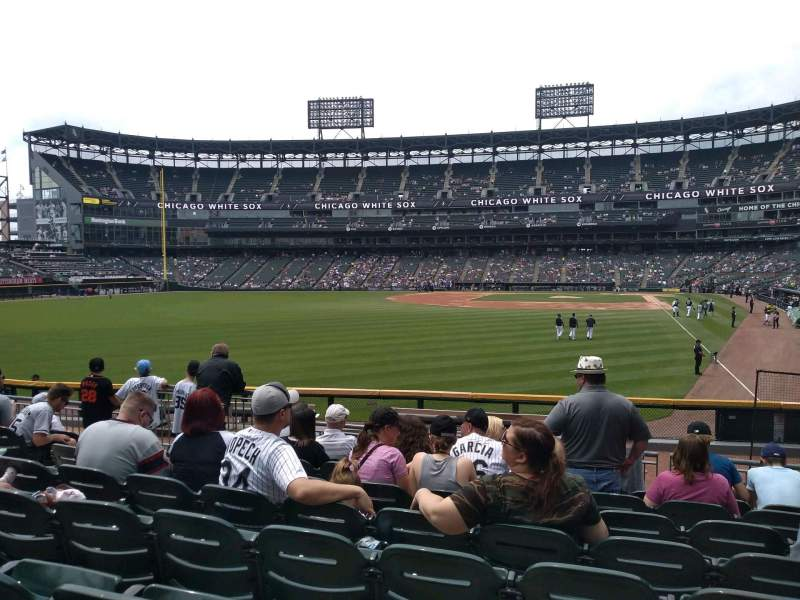 Seating view for Guaranteed Rate Field Section 157 Row 15 Seat 11