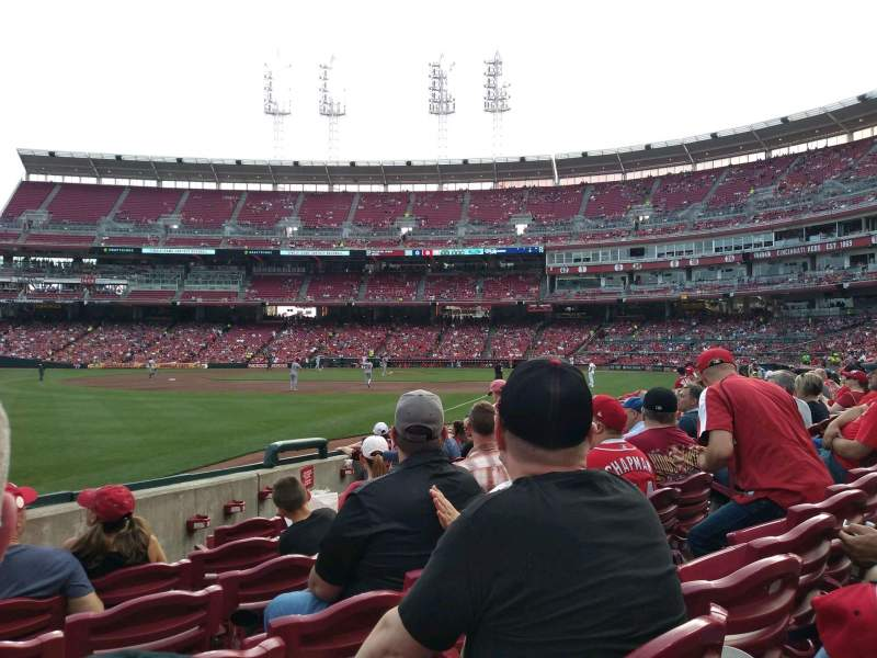 Seating view for Great American Ball Park Section 110 Row K Seat 9