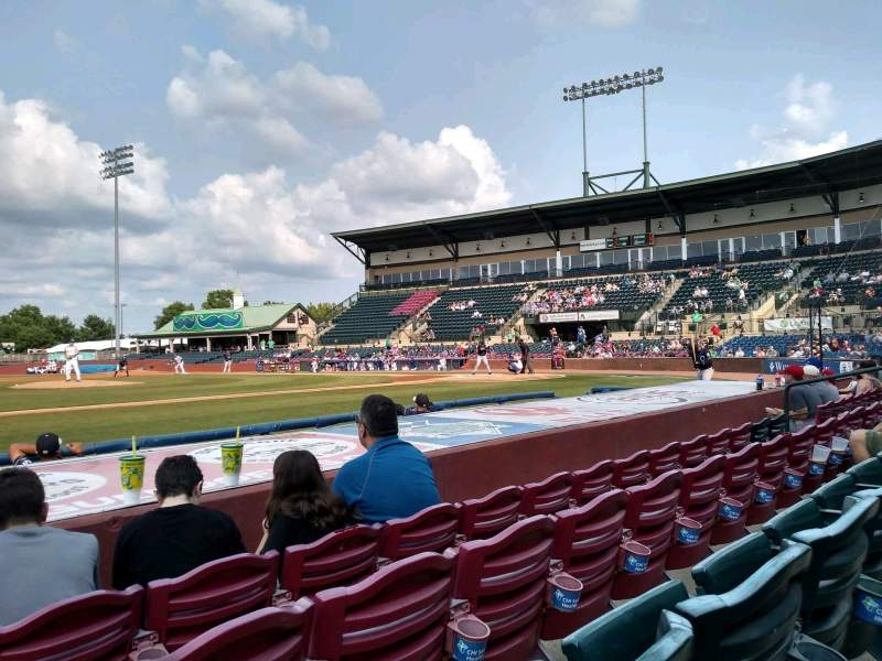 Seating view for Whitaker Bank Ballpark Section 110 Row 5 Seat 15