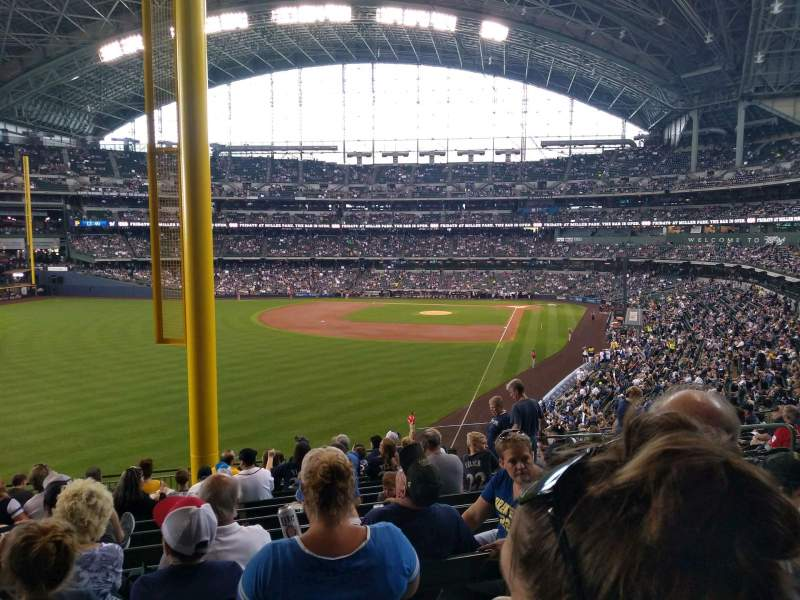 Seating view for Miller Park Section 233 Row 14 Seat 9