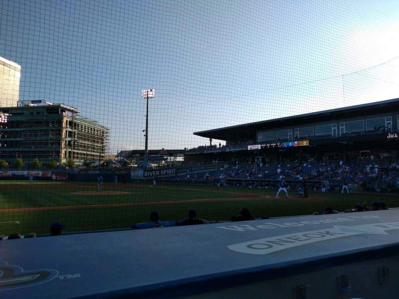 Seating view for ONEOK Field Section 114 Row F Seat 1