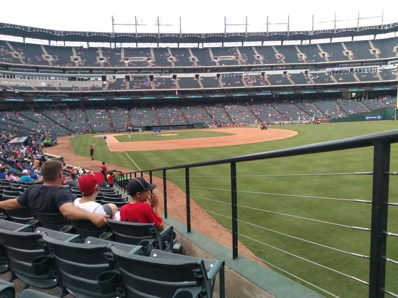Seating view for Globe Life Park in Arlington Section 40 Row 19 Seat 29