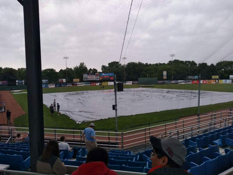 Seating view for Harry C. Pohlman Field Section B Row 13 Seat 11