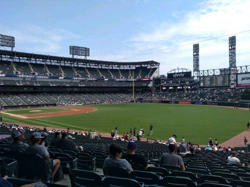 Seating view for Guaranteed Rate Field Section 110 Row 34 Seat 22