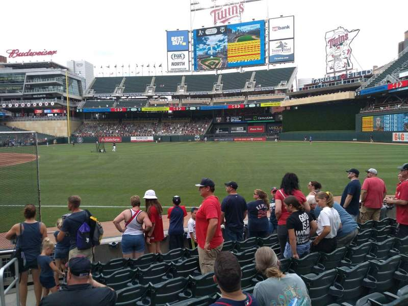 Seating view for Target Field Section 103 Row 8 Seat 24
