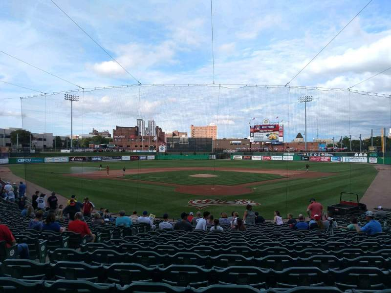Seating view for Dozer Park Section 108 Row 21 Seat 19
