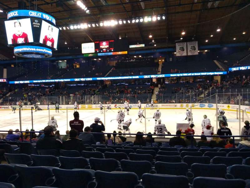 Seating view for Allstate Arena Section 109 Row H Seat 17