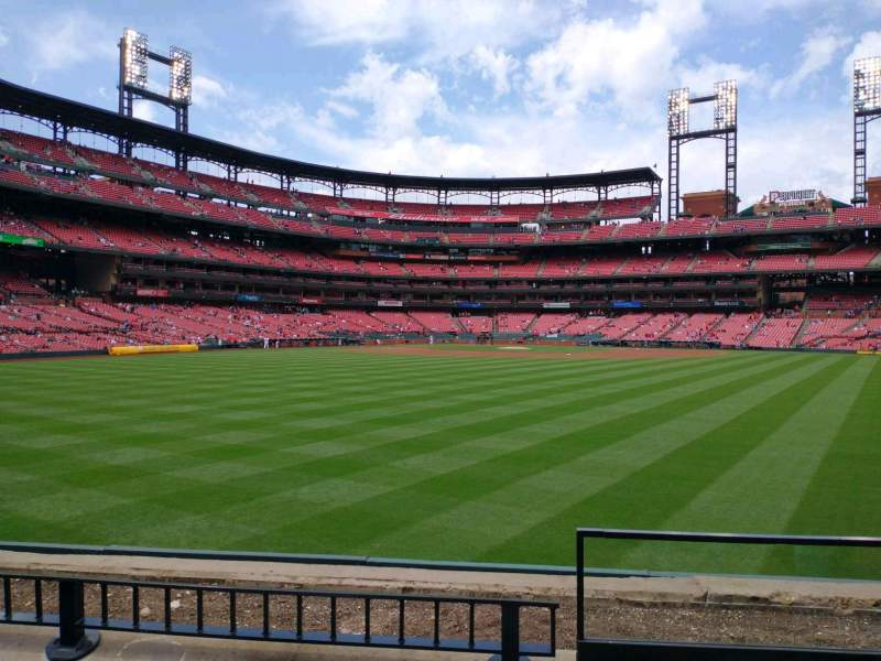 Seating view for Busch Stadium Section 105 Row 3 Seat 15