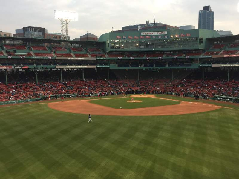 Seating view for Fenway Park Section Green Monster 10 Row 1 Seat 5