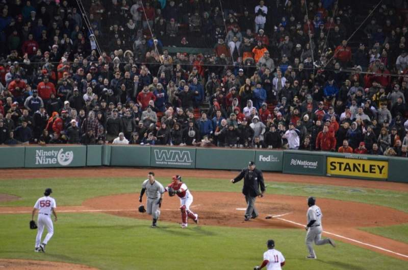Seating view for Fenway Park Section Green Monster 7 Row 1 Seat 1