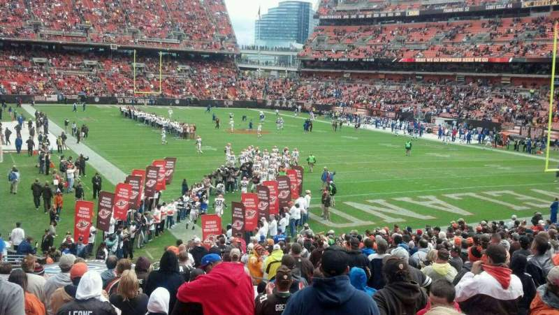 Seating view for FirstEnergy Stadium Section 144 Row 23 Seat 8