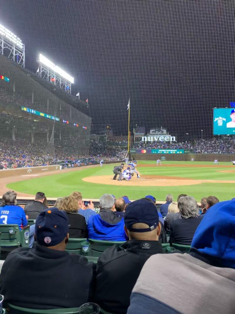 Seating view for Wrigley Field Section 21 Row 9 Seat 5