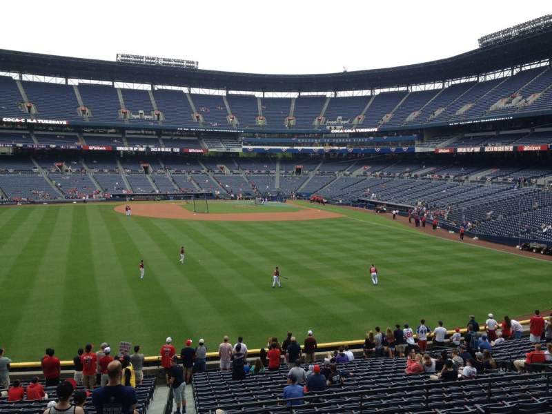 Seating view for Turner Field Section 242 Row 7 Seat 1
