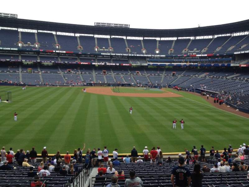 Seating view for Turner Field Section 240 Row 7 Seat 2