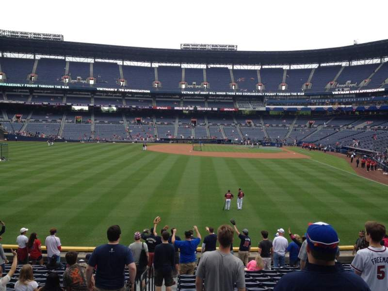 Seating view for Turner Field Section 238 Row 28 Seat 1