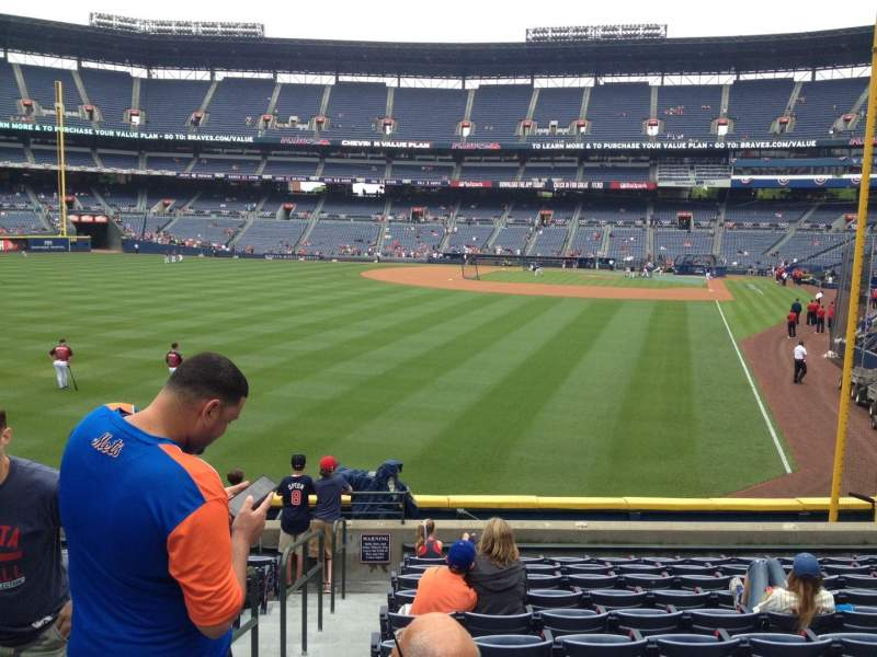 Seating view for Turner Field Section 234 Row 24 Seat 1