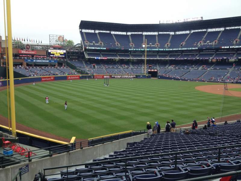 Seating view for Turner Field Section 128 Row 3 Seat 1