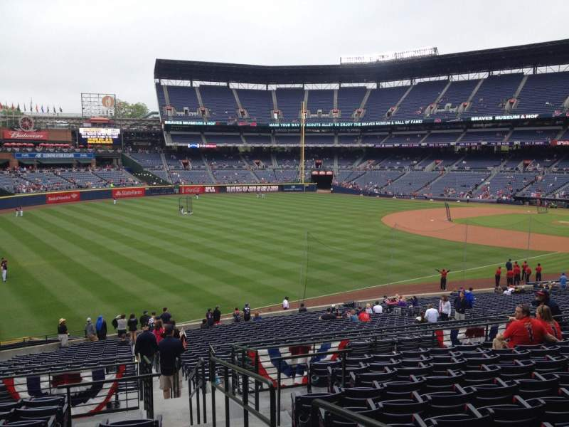 Seating view for Turner Field Section 226 Row 11 Seat 101