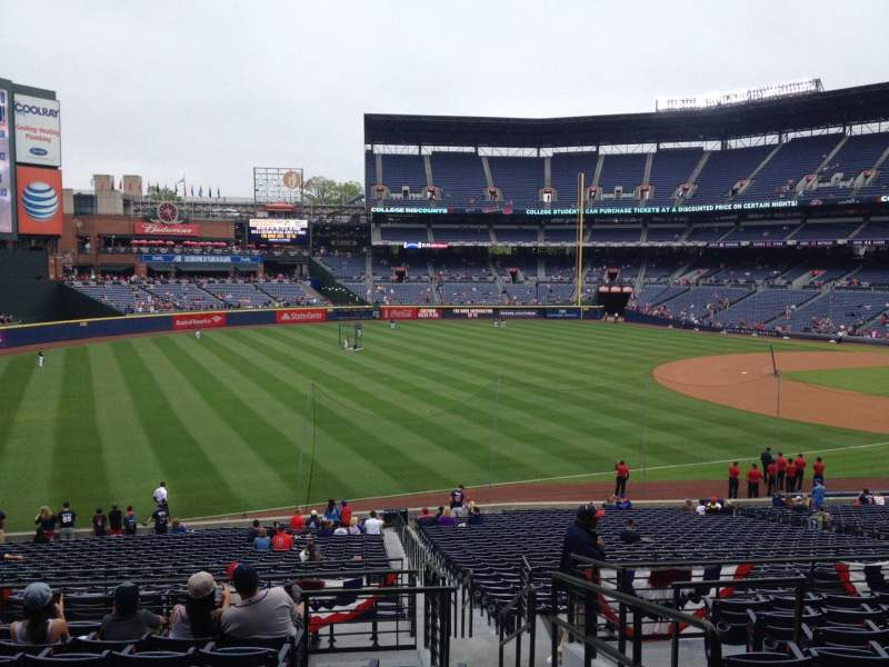 Seating view for Turner Field Section 224 Row 10 Seat 101