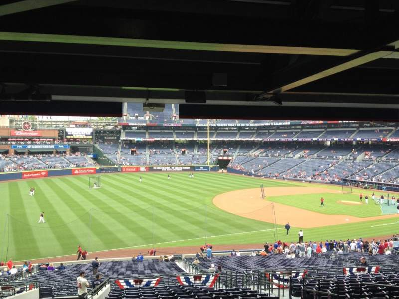 Seating view for Turner Field Section 222 Row 17 Seat 104