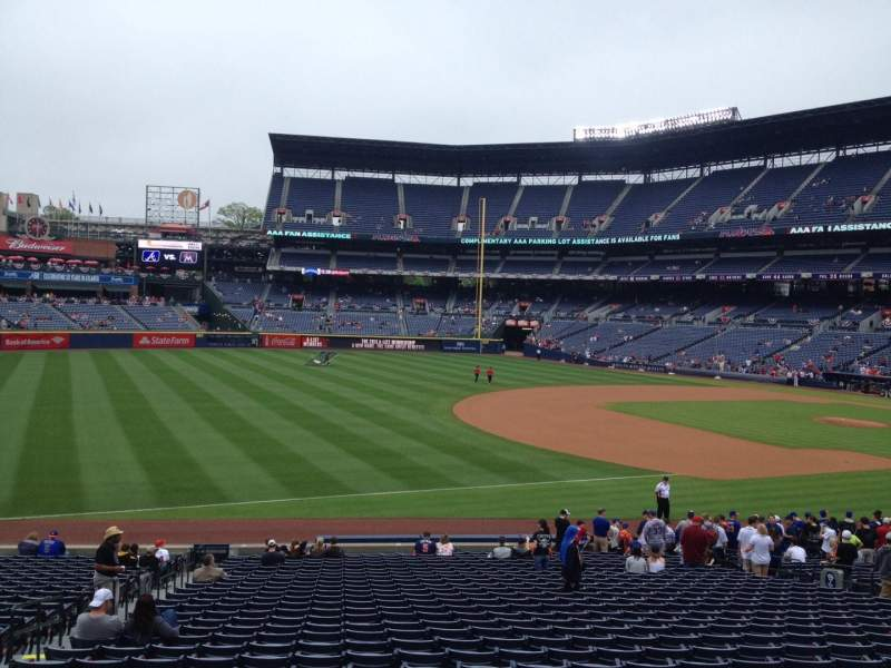 Seating view for Turner Field Section 122 Row 28 Seat 5