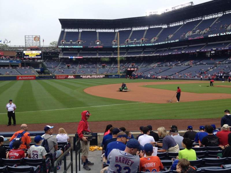 Seating view for Turner Field Section 120 Row 12 Seat 1