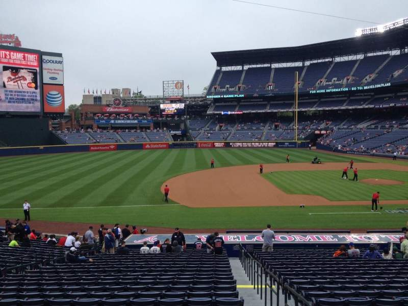 Seating view for Turner Field Section 118 Row 28 Seat 101
