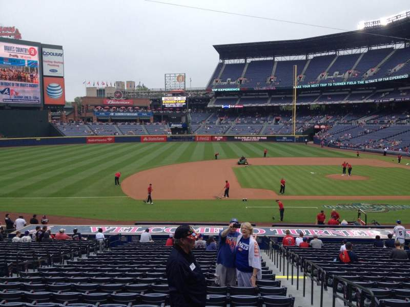 Seating view for Turner Field Section 116 Row 28 Seat 102