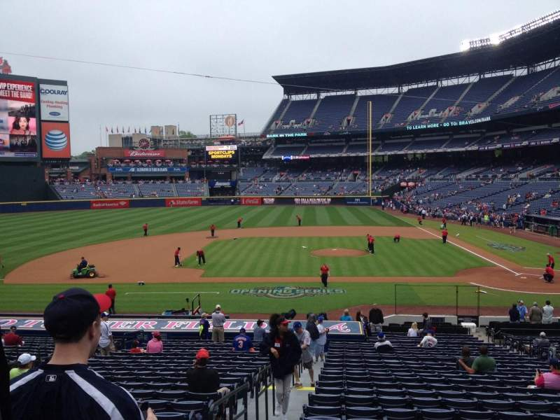 Seating view for Turner Field Section 110 Row 28 Seat 1