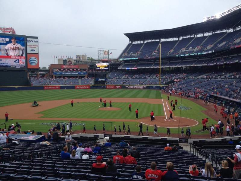 Seating view for Turner Field Section 108 Row 28 Seat 105