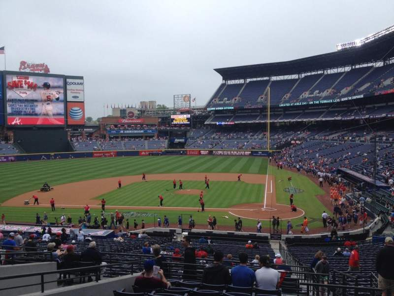 Seating view for Turner Field Section 206 Row 10 Seat 103