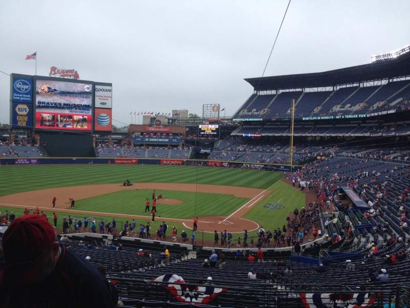 Seating view for Turner Field Section 204 Row 10 Seat 109